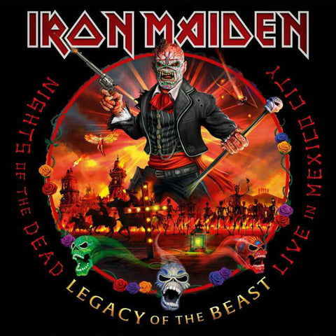 LP Iron Maiden - Nights of the Dead Legacy of the Beast Live in México Limited Edition