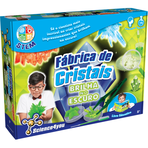 Science4You Fábrica De Cristais Brilha Escuro