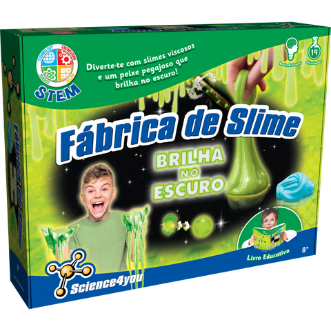 Science4you FÁBRICA DE SLIME BRILHA NO ESCURO