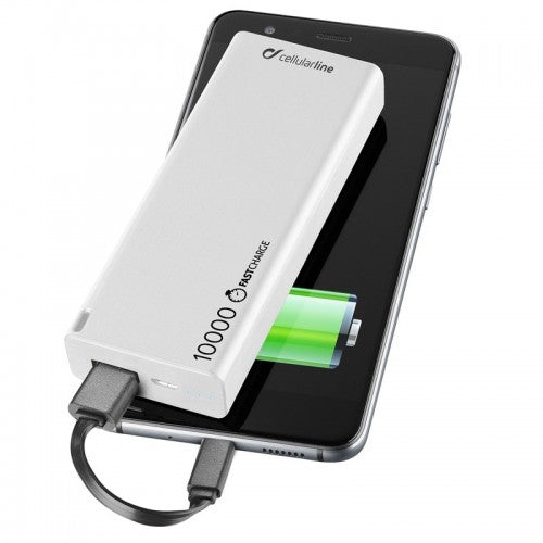 Powerbank Cellularline Freepower Slim 10000mAH Branco