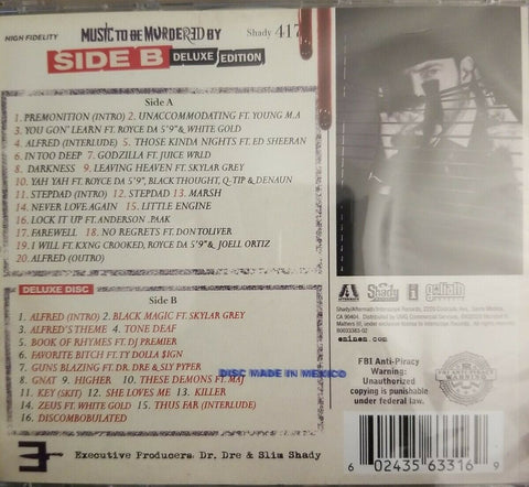CD Eminem - Music to be Murdered By - Side B Deluxe Edition 2 CDs