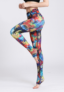 Flower Printed Yoga Pants