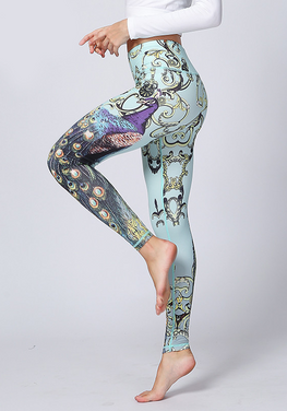 Peacock Elastic Yoga Pants