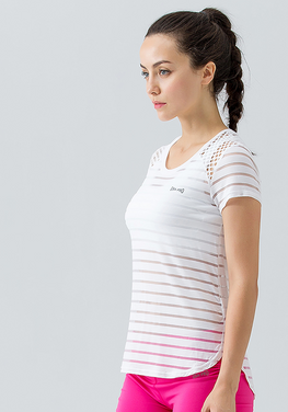 Stripe Hollow Out Top