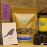Tweet & Tea Box -  Natural Wild bird food and seed mixes - for Small Garden Birds