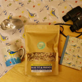 Blue Tit Gift Box -  Natural Wild bird food and seed mixes - for Small Garden Birds