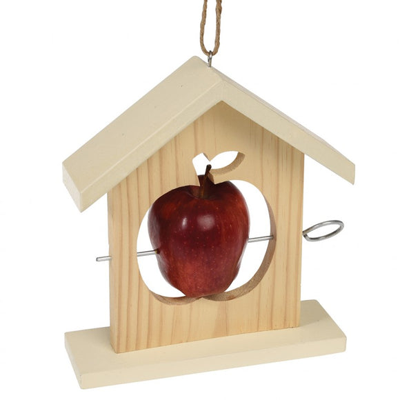 Wooden Apple Feeder -  Natural Wild bird food and seed mixes - for Small Garden Birds