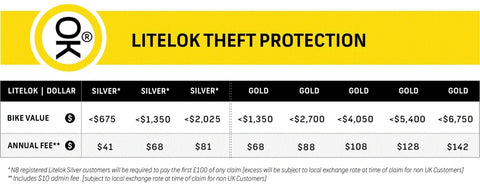 Theft Protection - Purchase Separately