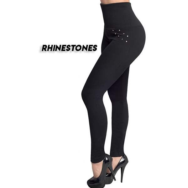 [Rhinestones] Tummy Control Tight Pants - PhenomHouse Group