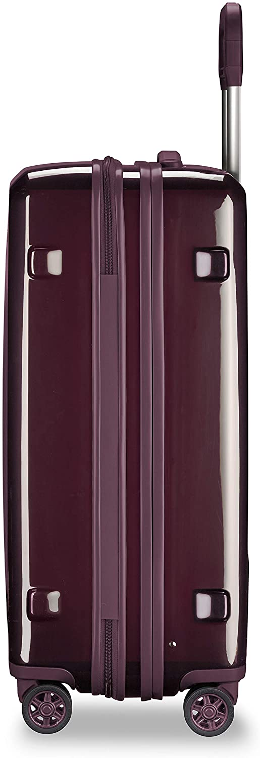 Briggs & Riley Sympatico-Hardside CX Expandable Medium Checked Spinner Luggage, Plum, 27-Inch - PhenomHouse Group