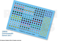 130016 - Commonwealth Generic Set 1 Decal Sheet
