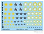 130056 - US Star Set 2 (Yellow & Dark Grey US Star)
