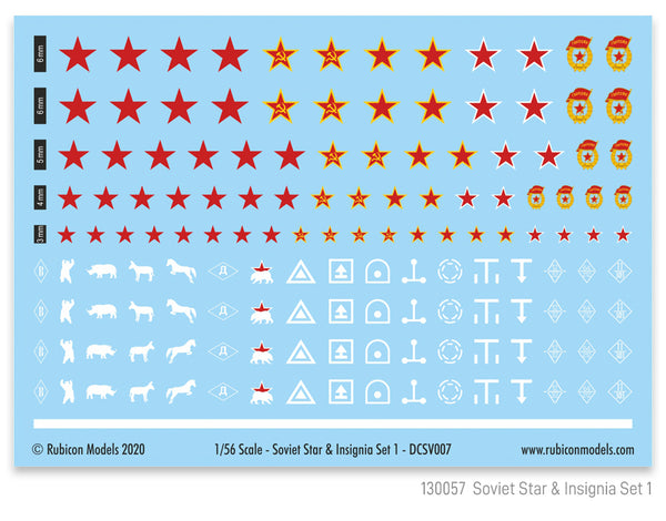 130057 - Soviet Star & Insignia Set 1
