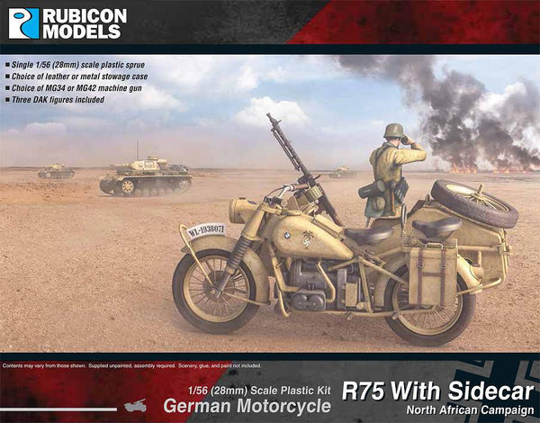 280052 - German Motorcycle R75 with Sidecar (DAK)