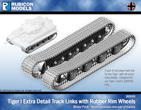 282020 - Tiger I Extra Detail Track Link with Rubber Rim Wheels