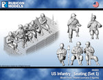 284001 - US Infantry - Seating (Set 1)- Pewter