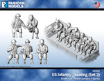 284002 - US Infantry - Seating (Set 2)- Pewter