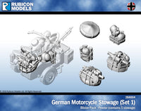 284004 - German Motorcycle Stowage (Set 1)- Pewter