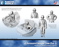 284006 - US Armored Vehicle Crew (Set 1)- Pewter