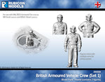 284008 - UK Armoured Vehicle Crew (Set 1)- Pewter