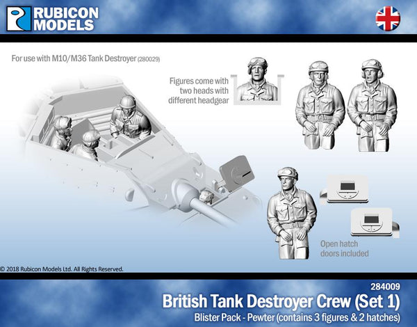 284009 - UK Tank Destroyer Crew (Set 1)- Pewter