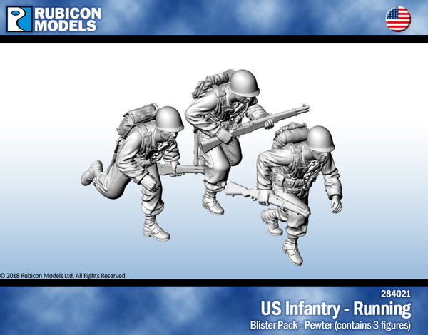 284021 - US Infantry - Running - Pewter