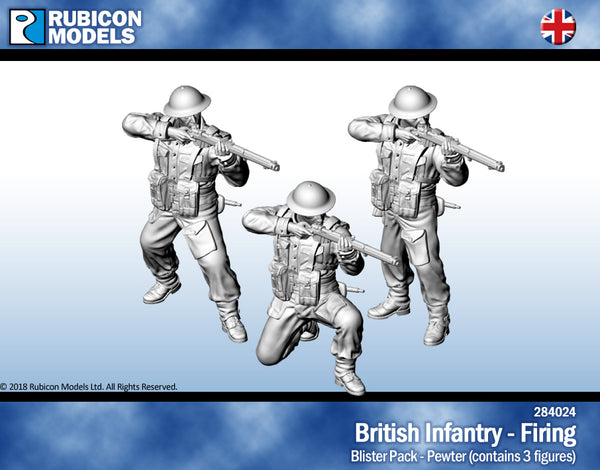 284024 - British Infantry - Firing - Pewter