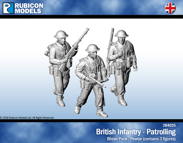 284025 - British Infantry - Patrolling - Pewter