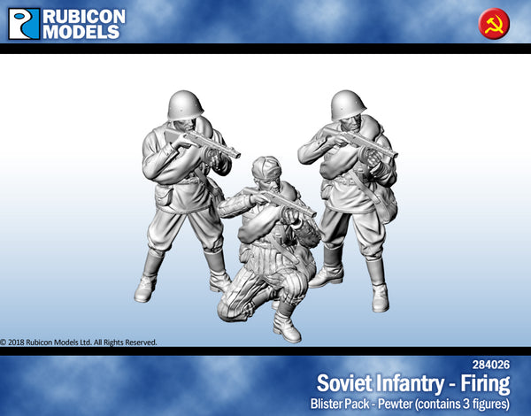 284026 - Soviet Infantry - Firing - Pewter