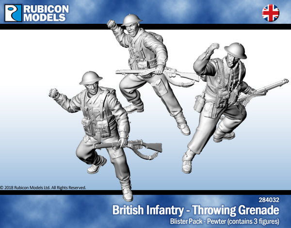 284032 - British Infantry Throwing Grenades