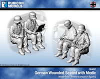 284037 - German Wounded Seated with Medic