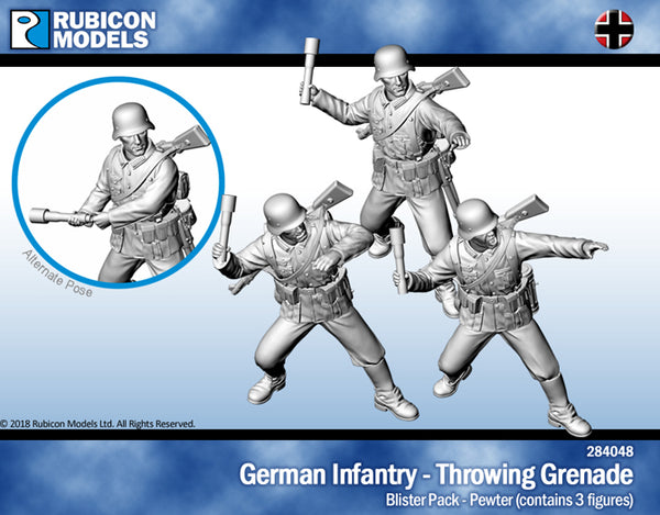 284048 - German Infantry - Throwing Grenade
