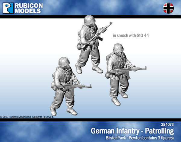 284073 - Germans in Smocks with StG44 - Patrolling - Pewter