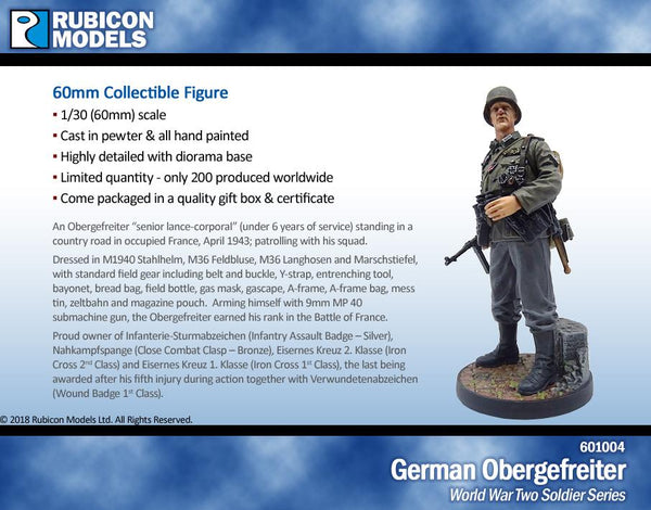 601004 - German Obergefreiter- Pewter 60mm
