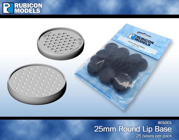 801001 - 25mm Round Bases- 1 Pack of 25 Bases