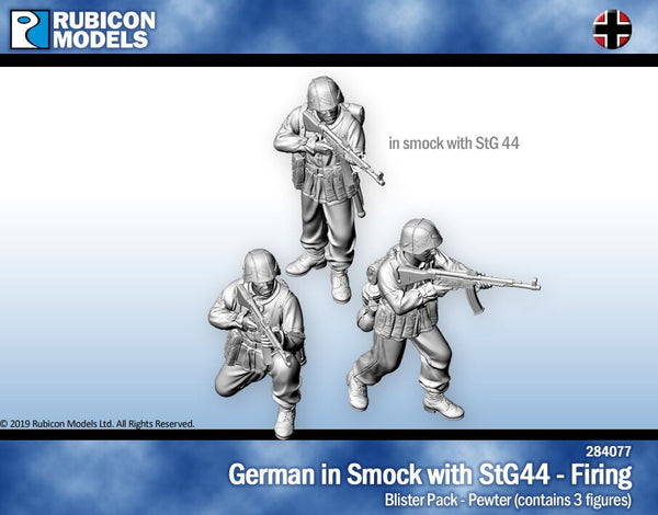 284077 - Germans in Smocks with STG44 Firing - Pewter
