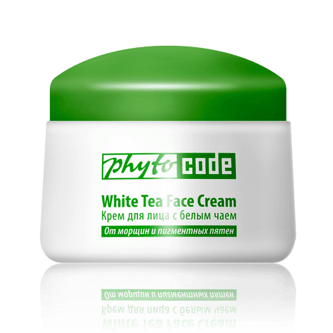Face cream with white tea extract