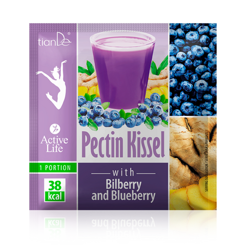 Tiande Pectin Kissel with Bilberry and Blueberry