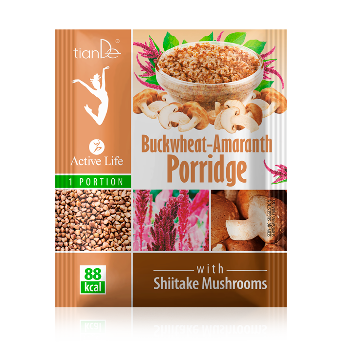 Tiande Buckwheat-Amaranth Porridge with Shiitake Mushrooms
