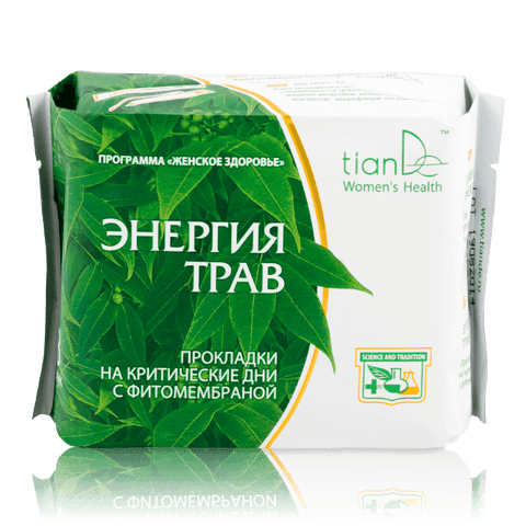 Herbal Energy Day Phytomembrane Hygiene Pads