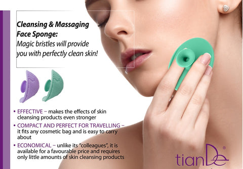 TianDe Cleansing & Massaging Face Sponge,1pc