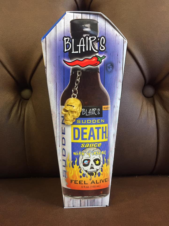 Blair S Sudden Death Hot Sauce In Coffin Bottles And Books