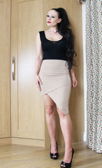 Coco - Asymmetric Skirt - Mocha Brown