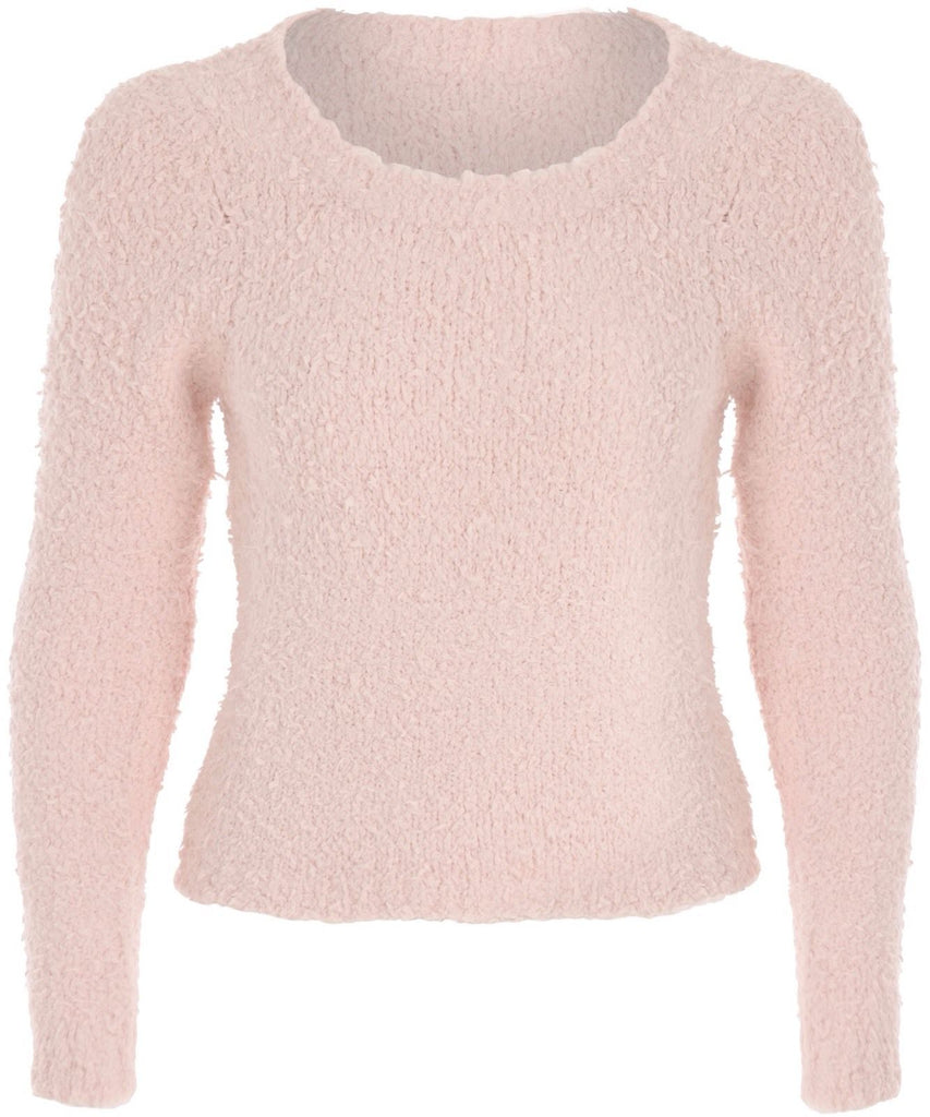 Pretty In Pink - Soft Cropped Baby Pink Wool Jumper