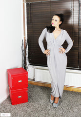 Slinky Goddess - Celebrity Inspired - Sam Faiers - Gathered  Maxi Dress