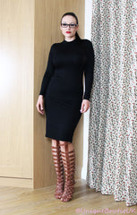 Black Everyday Classic Jersey Pencil Skirt