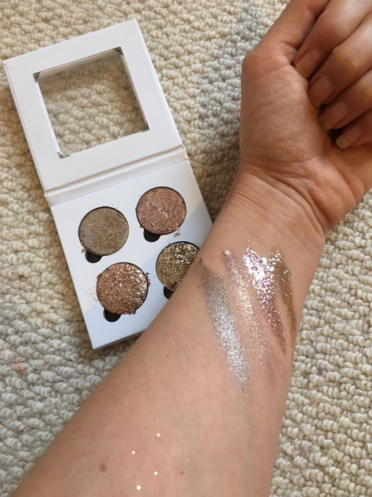 Glitter Eyes - Treasure Chest- Pressed Glitters & Shimmer Quad Combo