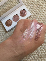 Glitter Eyes Rose Gold Trio Pressed Glitter & Shimmer Palette