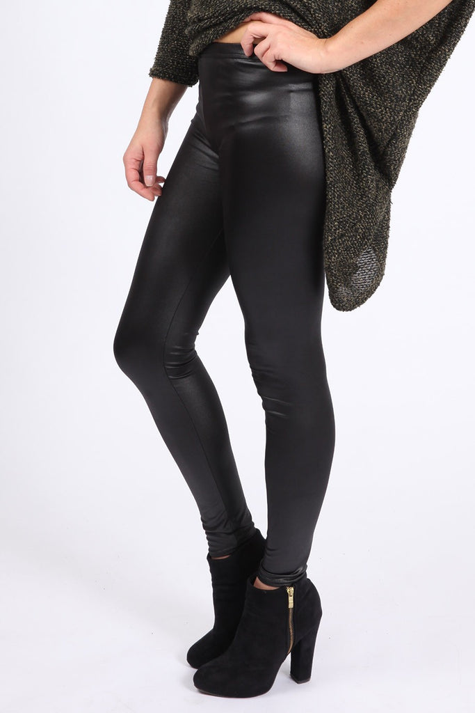 Second Skin - Celeb Inspired - Michelle Keegan - Tight Leather Look Leggings