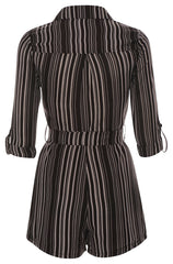 Play Time - Vertical Stripe Playsuit